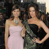 Jessica Biel, Kate Beckinsale and Colin Farrell Pictures at Total Recall LA Premiere