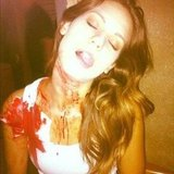 Lyndsy Fonseca got bloodied up for Nikita. Source: Instagram user lyndsyloowho