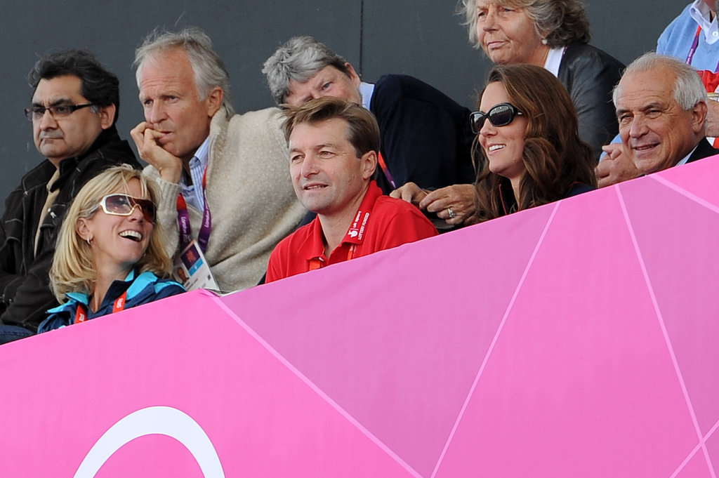 Kate Middleton wore sunglasses to cheer on Great Britain's men's field hockey team.