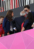 Kate Middleton took her seat.