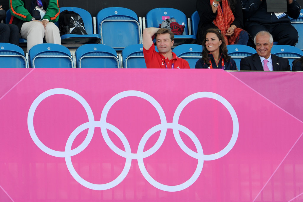 Kate Middleton smiled in the stands at the Olympics.