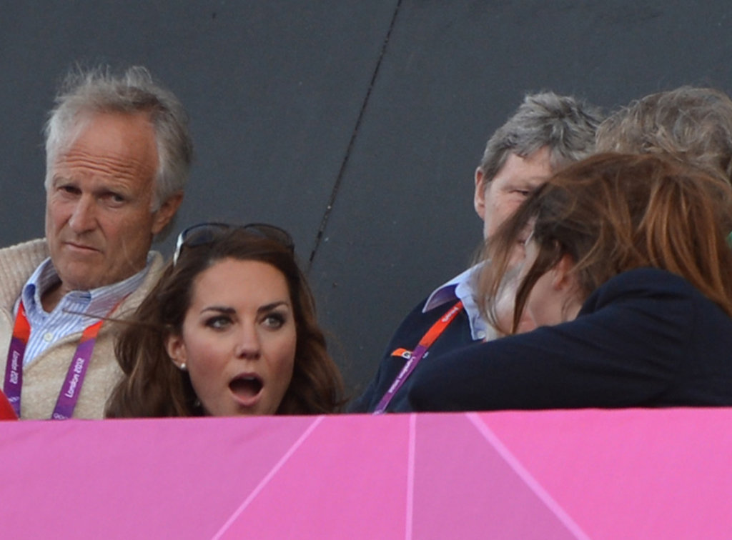 Kate Middleton looked shocked.