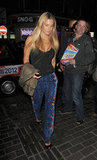 Bar Refaeli met up with friends for dinner in London.