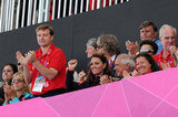 Kate Middleton sat in the stands.