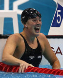Allison Schmitt reacted to winning a gold medal in the 200m freestyle and setting a new world record!