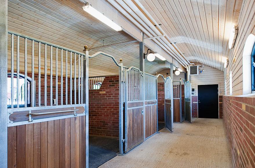 The stable has eight beautifully appointed stalls.