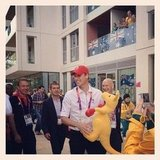 Libby Trickett captured Prince William at the Olympic Village holding a boxing kangaroo! Source: Instagram user libbytricket