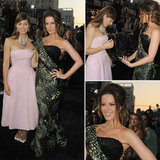 Pictures of Kate Beckinsale in Armani Prive and Jessica Biel in Pink Christian Dior Couture at the Total Recall LA Premiere