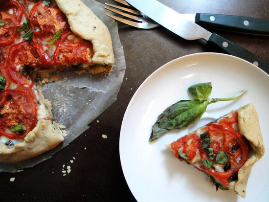 tomato tart rustic free form