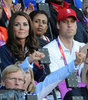 Kate Middleton and Prince William Pictures Getting Excited Cheering at 2012 London Olympics