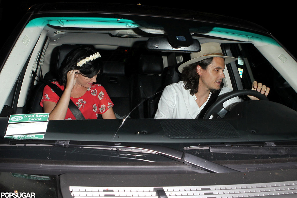 Katy Perry and John Mayer drove away together.