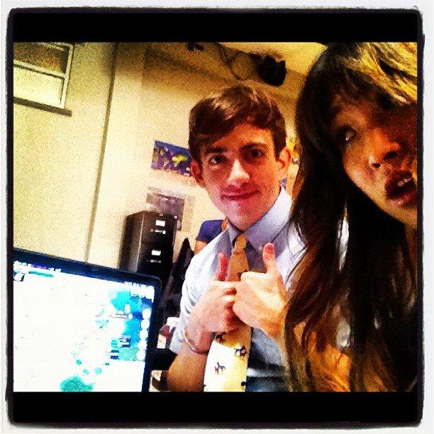 Jenna Ushkowitz and Kevin McHale bonded on the set of Glee. Source: Instagram user jennaushkowitz