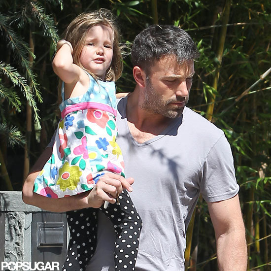 Ben Affleck carried Seraphina Affleck.