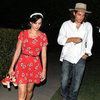 Katy Perry and John Mayer Leave a House Party