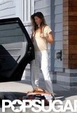 Gisele Bundchen showed her baby bump.