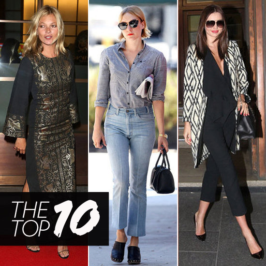 Top 10 Best Dressed of the Week: Kate Moss, Chloë Sevigny, Miranda & More