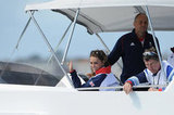 Kate Middleton enjoyed herself while watching Olympic sailing.