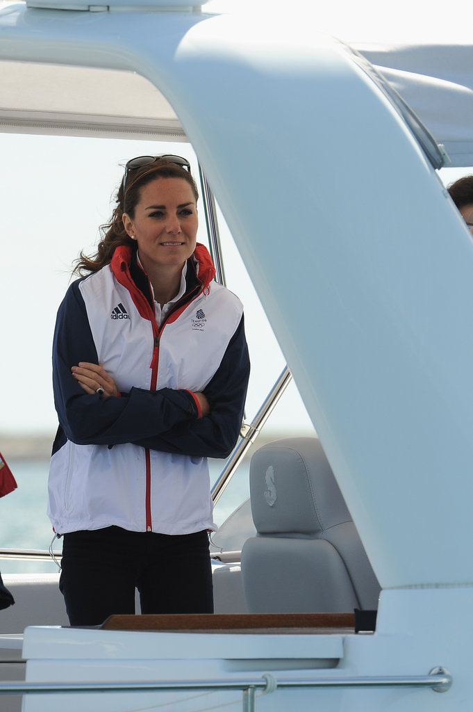 Kate Middleton Takes to the Sea to Watch Olympic Sailing