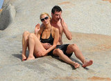 Paris Hilton and her mystery man spent time together on Cavallo Island off the coast of Italy.