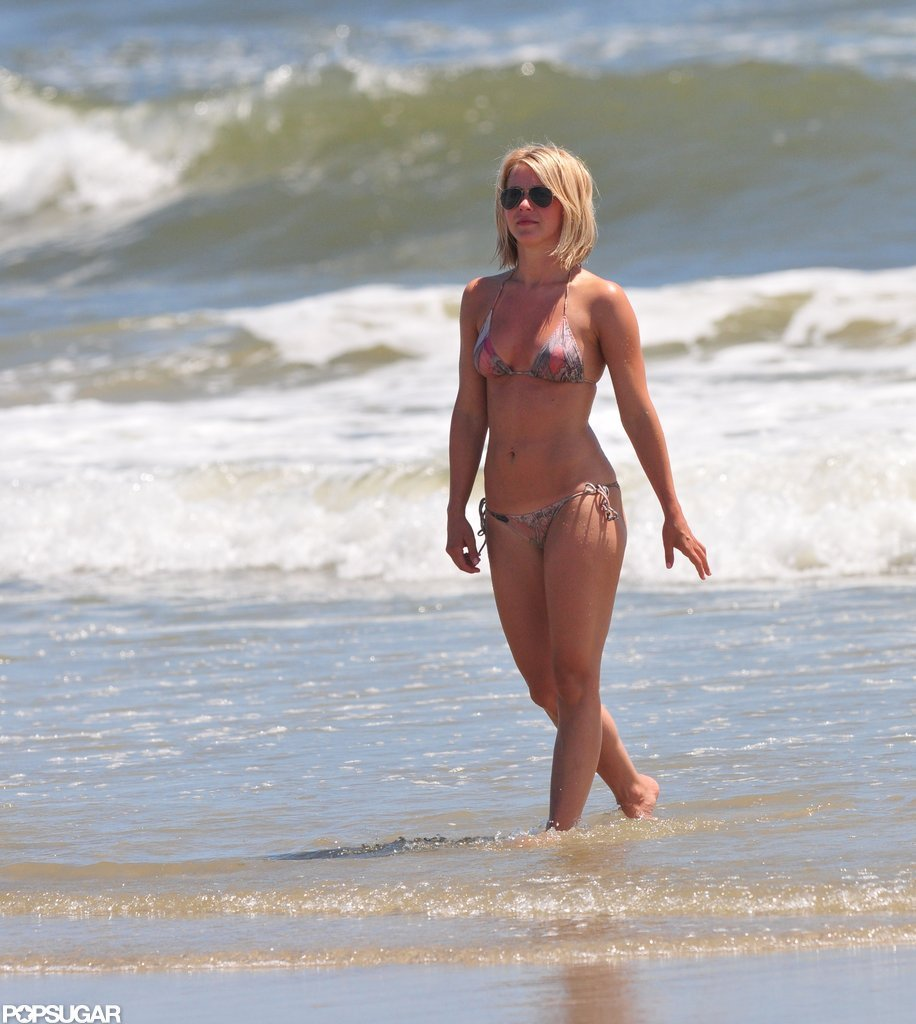 Julianne Hough walked out of the water in a bikini.