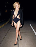 Charlize Theron walked the streets of LA in a cutout bikini for a sexy spread in Vanity Fair's March 2012 issue. Source: Vanity Fair