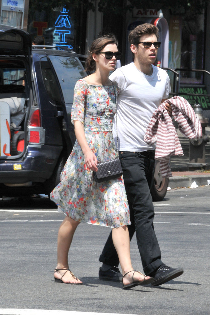 Keira Knightley and fiancé James Righton crossed the street holding hands in NYC.