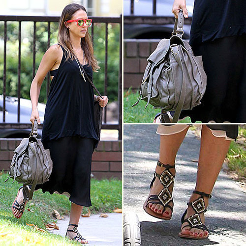 Jessica Alba Breaks the Less-Is-More Accessories Rule — and We Love It