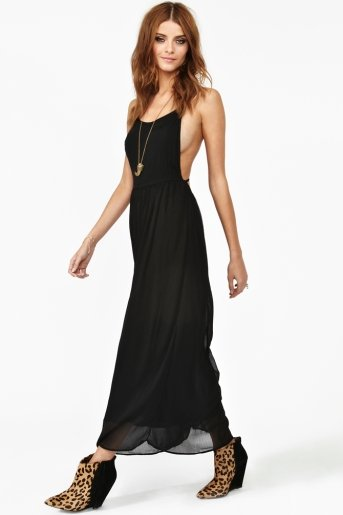 You're never not going to need a black maxi dress. This one is lightweight enough to wear during the day with flat sandals but will also look dressy and tough with heels and a leather jacket. Nasty Gal Ali Maxi Dress ($98)