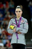 US gymnast Mc Kayla Maroney wasn't thrilled with her silver medal in the vault final.