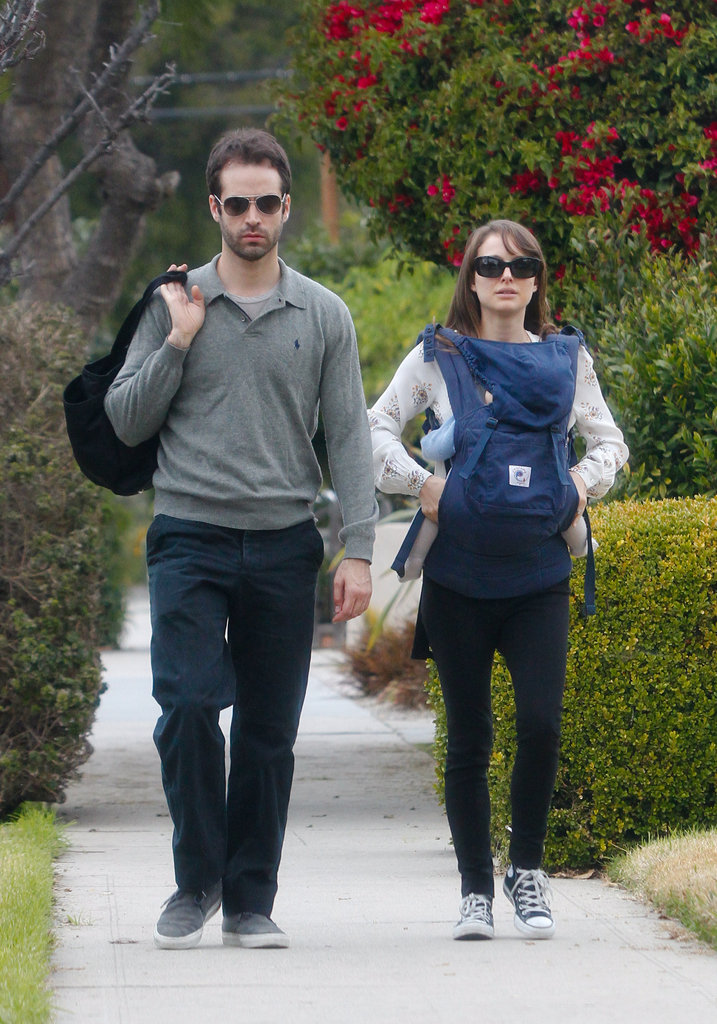 Natalie Portman and Benjamin Millepied took Aleph to meet friends in LA during Jan. 2012.