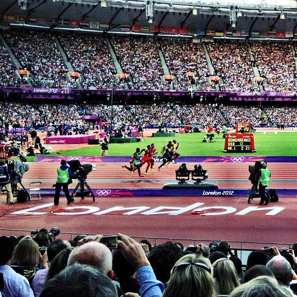 Jamie Oliver captured the speedy men's sprint event. Source: Instagram user jamieoliver