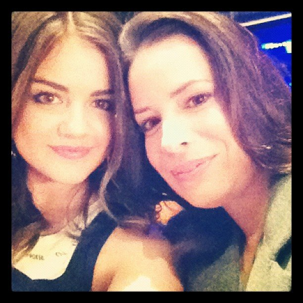 Lucy Hale posed with her Pretty Little Liars onscreen mom. Source: Instagram user lucyhale89