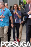 Kate Middleton walked around the Olympics.