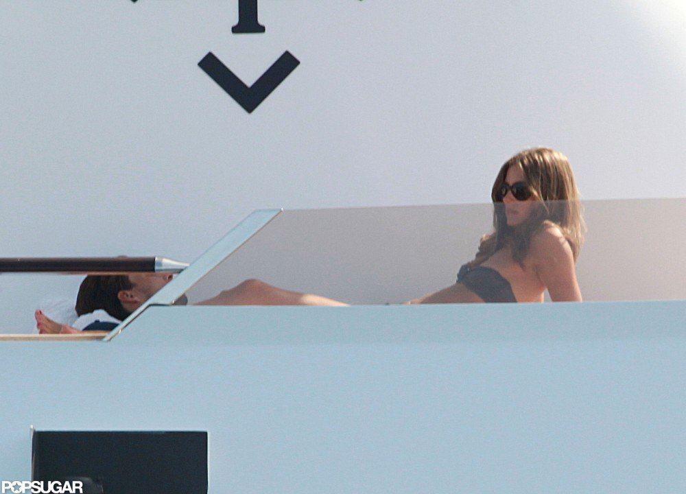 Olivia Palermo and Johannes Huebl lounged on board a yacht.