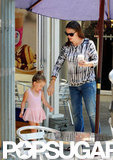 Jennifer Garner and Seraphina Affleck took a daytime trip to Baskin-Robbins in LA.