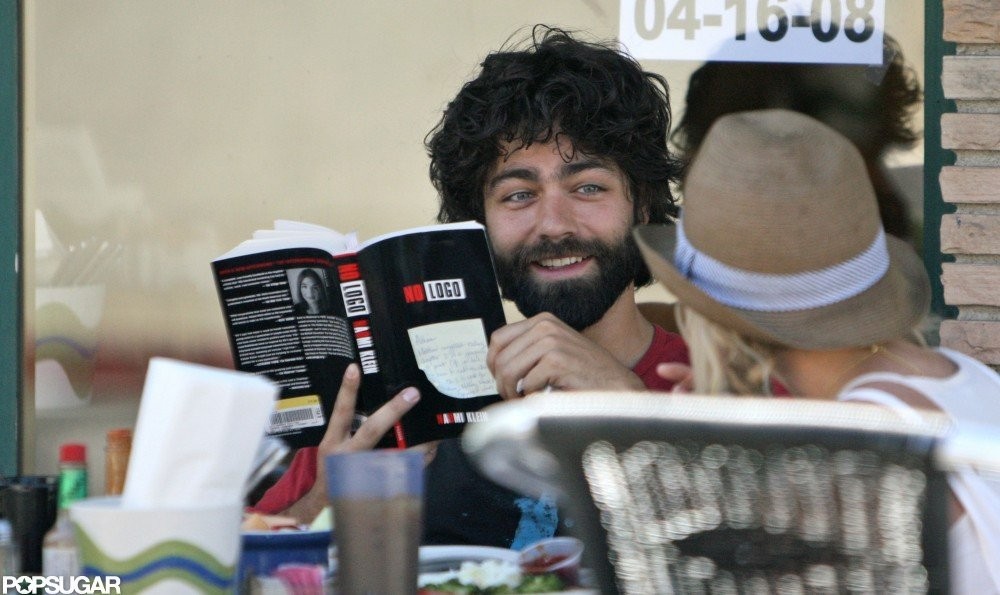 In April 2008, Adrian Grenier discussed Naomi Klein's No Logo over lunch in LA.