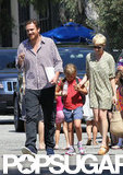 Michelle Williams took Matilda by the hand while taking a stroll with Jason Segel in LA.