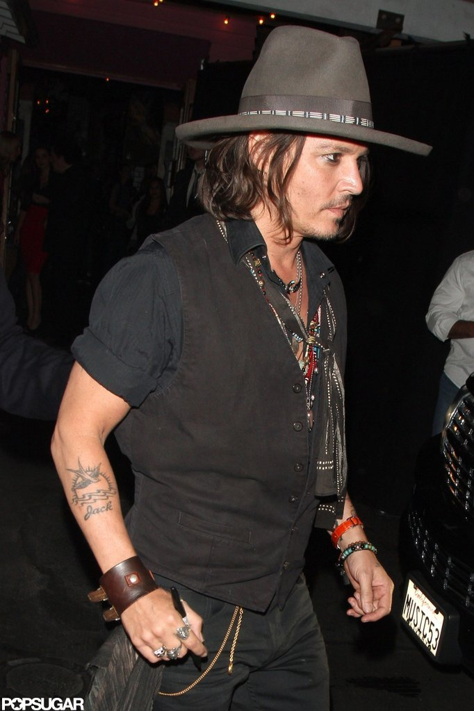Johnny Depp Has a Rocking Night Out With Steven Tyler and Aerosmith