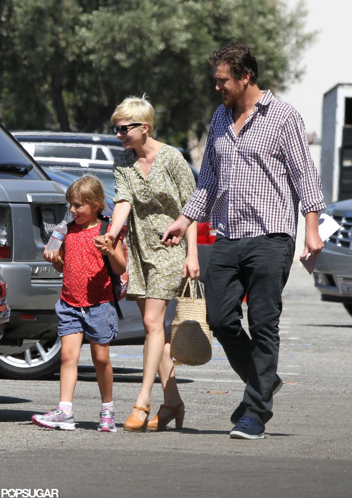 Michelle Williams and Jason Segel Settle In With Matilda in LA