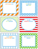 Free Printable School Lunch Box Notes