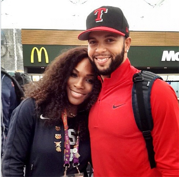 Deron Williams and Serena Williams