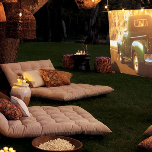 Backyard Movie Night Party Decorations