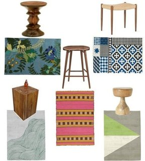 Shopping For Wool Rugs and Wooden Stools