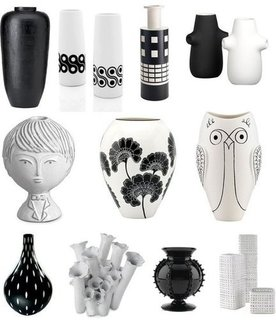 Black and White Vases Shopping