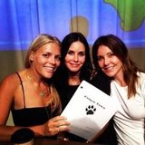 Busy Philipps shared a picture of herself with Courteney Cox and Christa Miller at Cougar Town's table read. Source: Instagram user busyphilipps