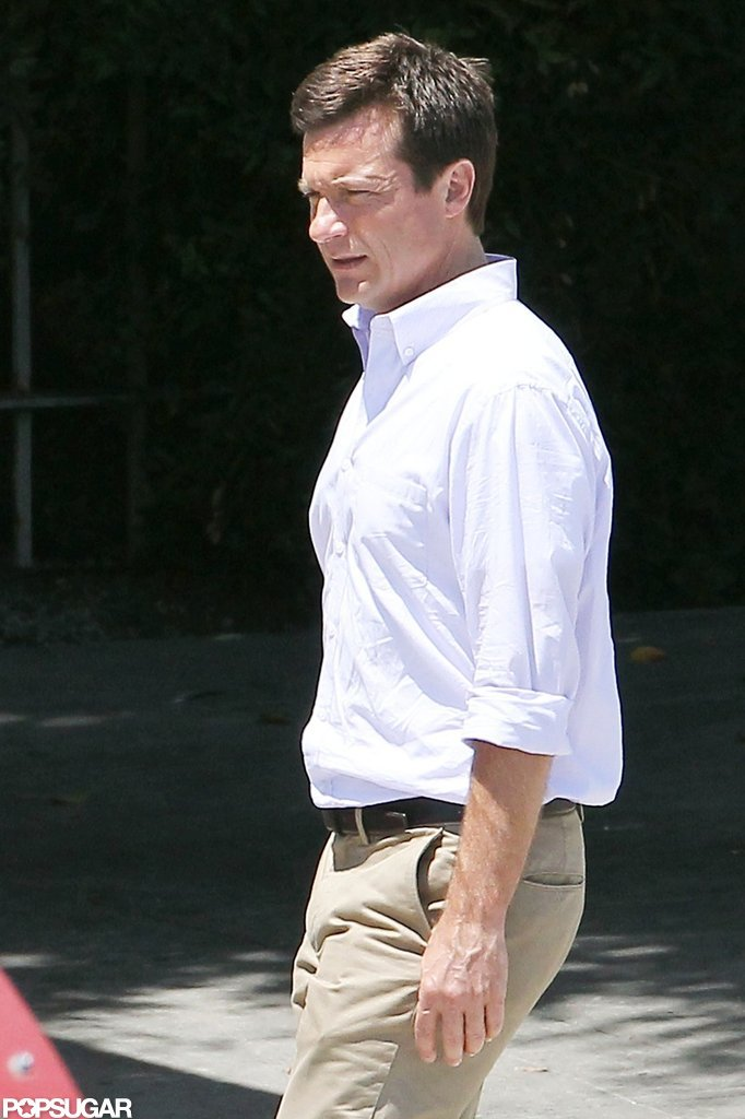 Jason Bateman arrived on set.