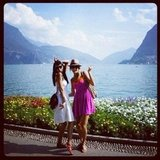 Stacy Keibler and a pal admired the view in Italy.  Source: Instagram user stacykeibler
