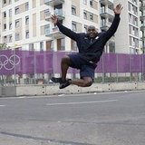 USA Wrestling's Dremiel Byers jumped for joy. Source: Instagram user todayshow