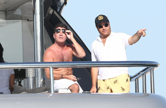 Simon Cowell caught some sun in the South of France.