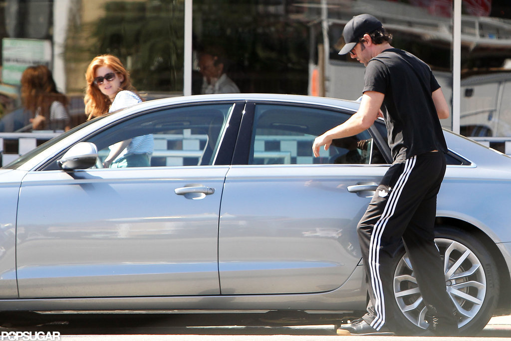 Isla Fisher and Sacha Baron Cohen went out to eat together in LA.